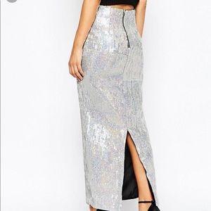 True Decadence Petite Sequin Maxi Skirt